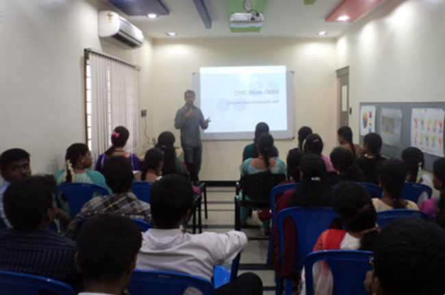 IV For B.E. III Year CSE to 'Dimensions - Academy For Media Technologies', Chennai