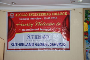 Campus Recruitment of Sutherland Global Services on 19 Jan 2013