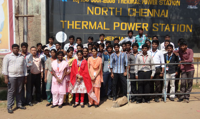 Industrial visit to North Thermal Power Plant, Ennore on 24 Aug 2012