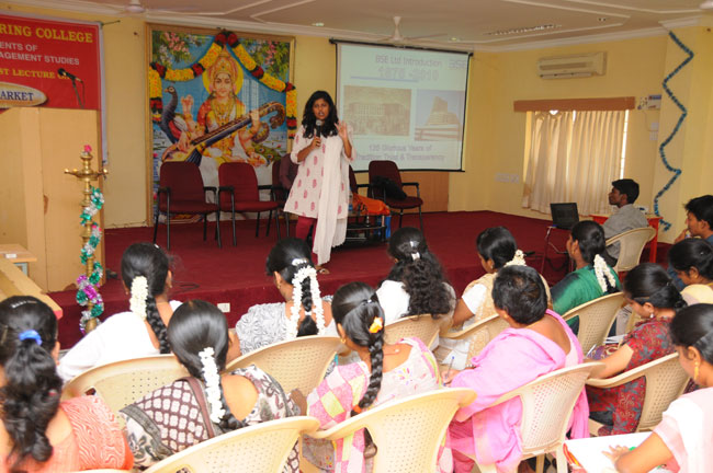 Guest Lecture on Financial Market, by Ms. Ramya (Bombay Stock Exchange), on 18 Sep 2012