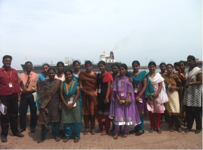 Industrial visit to Chennai Port Trust by CSE IV year students on 25 Sep 2012