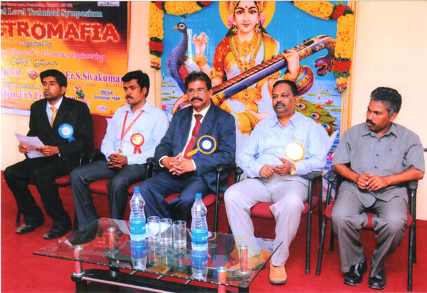 A National Level Technical Symposium 'ELECTROMAFIA', organised by Dept of EEE on 04 Oct 2012