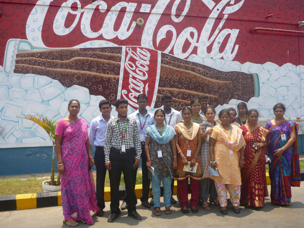 Industrial Visit to Hindustan Coca-Cola Beverages Pvt. Ltd, by MBA students on 09 Apr 2013