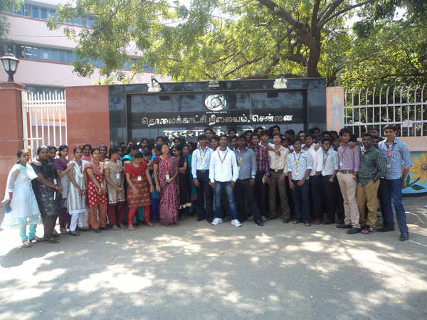 Industrial Visit to Doordarshan Kendra by III year ECE students on 31 Jan 2013