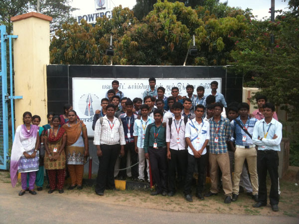 Industrial Visit to Power Grid, Sriperumbudur, by II EEE students on 06 Mar 2013