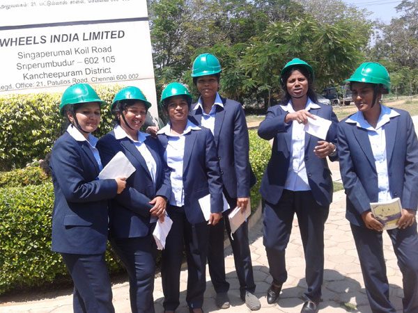 Industrial Visit to Wheels India, by MBA students
