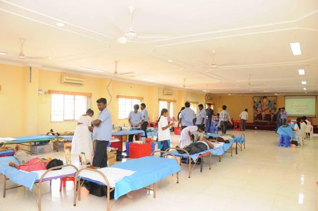 'Blood Donation Camp' at AEC Campus orgonised by NSS Unit on 28 Mar 2014
