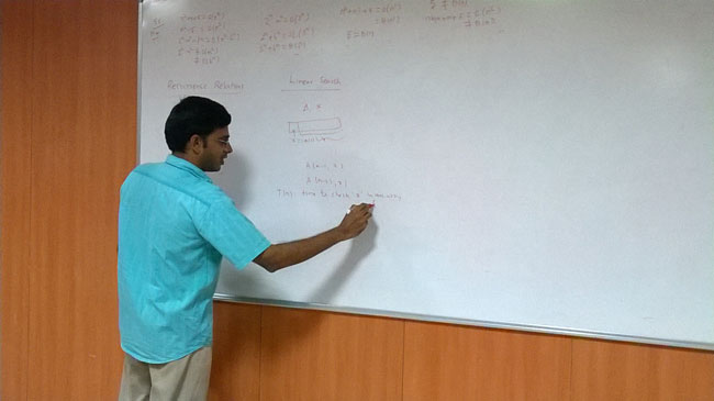 Expert Lecture on 'Asymptotic Analysis - Solving Recurrence Relations' organised by Department of CSE on 29 Mar 2014
