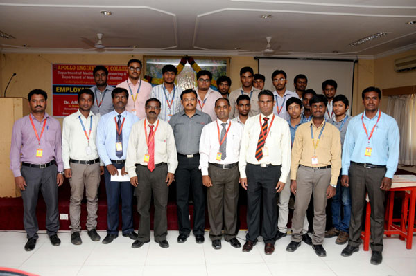 Expert Lecture on 'Employability Skills'  Organized by the Department of  Mechanical Engineering, on 22 August 2014