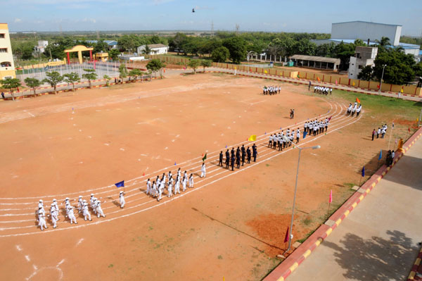 Inauguration of AEC Sports Meet 2K14, Chief guest Thiru.K.Periaiah, IPS, Deputy Inspector General of Police - Training, Chennai, on 23 Aug 2014
