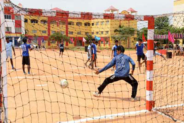 Anna University Zone - II Hand Ball Tournament, organised by  Apollo Engg College, on 04 - 05 Sep 2014