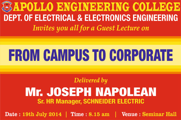 From Campus to Corporate on 19 July 2014
