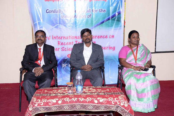 Third International Conference on Recent Trends, organized by Dept of CSE, on 24 - 25 Apr 2015