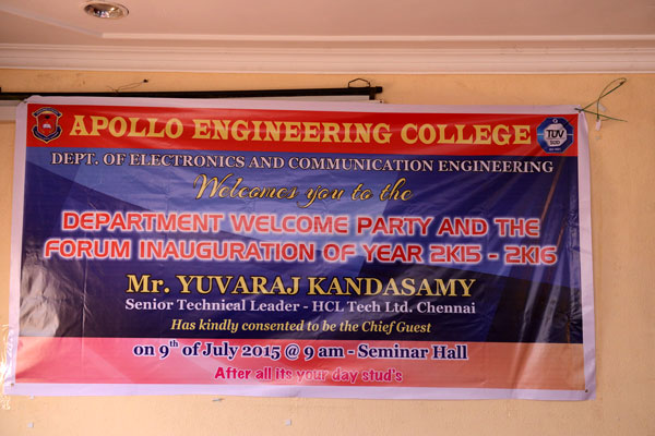 Welcome Party and ECE Forum Inauguration 2015-16, on 09 Jul 2015
