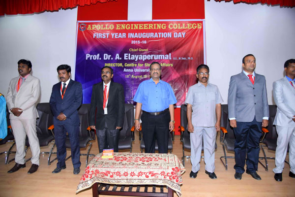 First Year Inauguration Day, on 12 Aug 2015