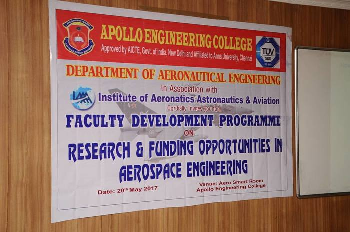 FDTP on Research & Funding Opportunities in Aerospace Engineering, on 20 May 2017